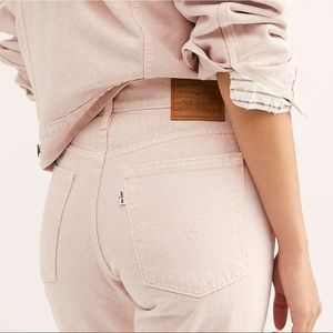 New Levi's Wedgie Icon High Rise Jeans Pink